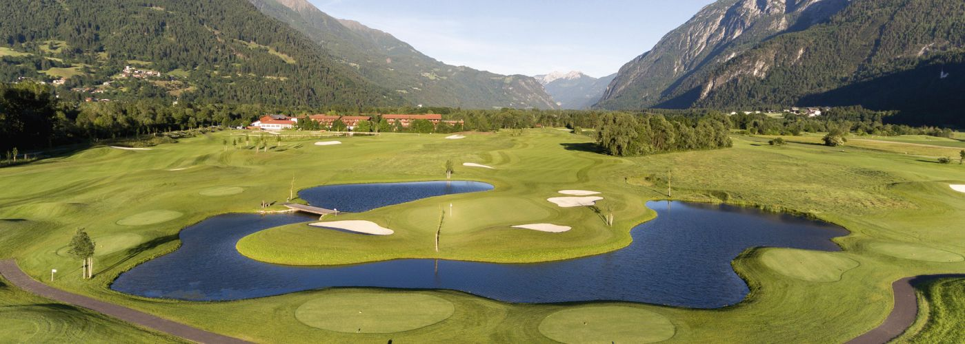 South Tyrol golf course lake view