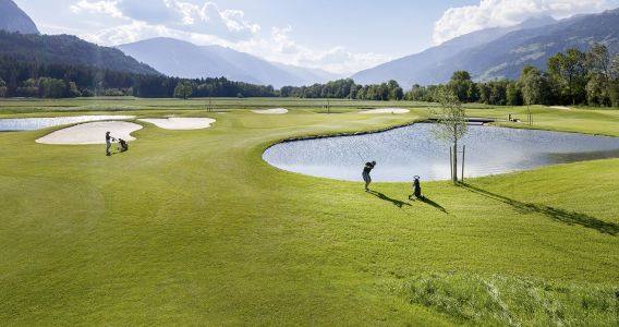 Golfing beautiful weather South Tyrol