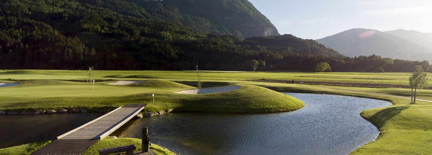 Lake golf course South Tyrol